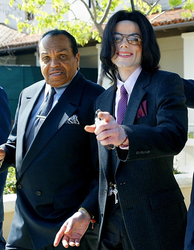 Michael Jackson e Joseph Jackson (Foto: Getty Images)