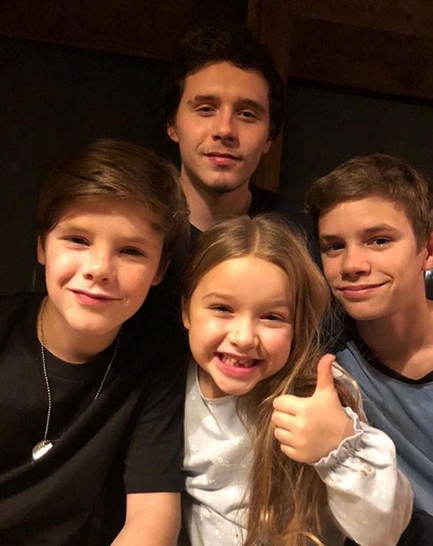 Filhos de Victoria e David Beckham (Foto: Reprodução / Instagram)