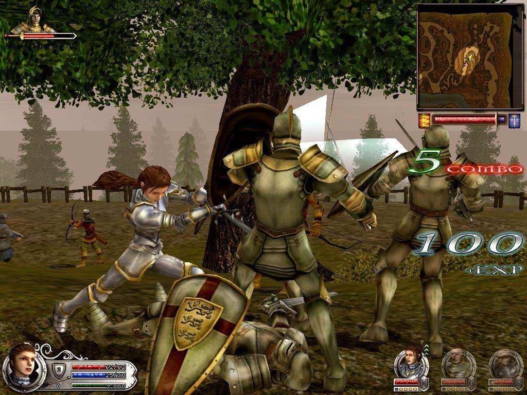 Cena do jogo Wars & Warriors: Joan of Arc (2004) (Foto: Reprodução)