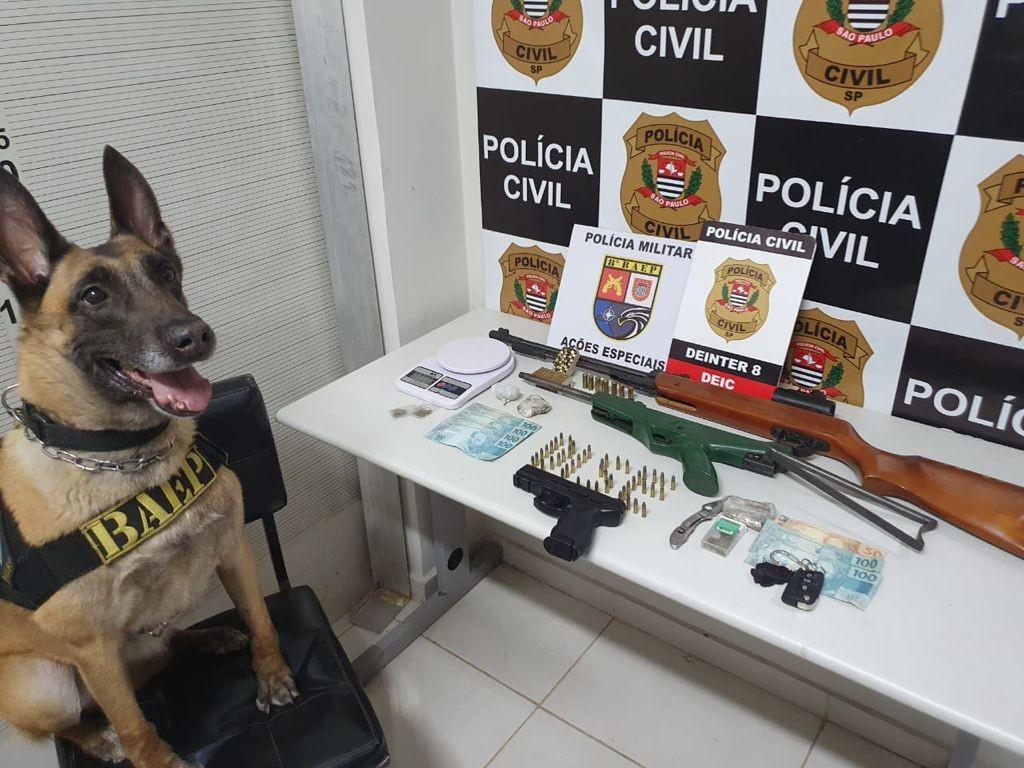 Após denúncias anônimas, polícia identifica criminosos e desmantela organização envolvida com tráfico de drogas
