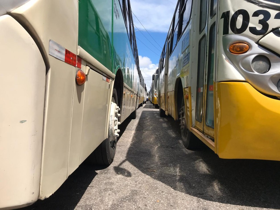 Ônibus em Natal — Foto: Lucas Cortez/Inter TV Cabugi