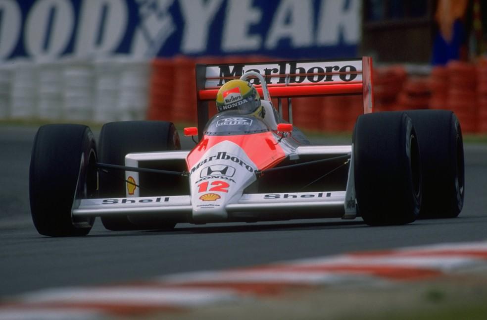 Senna pilota McLaren na temporada de 1988 — Foto: Getty Images