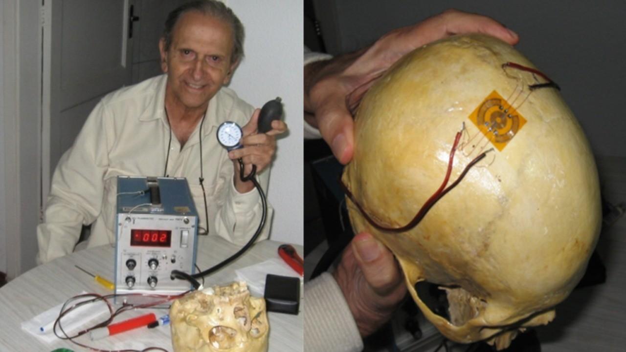 Sérgio Mascarenhas com o primeiro experimento que resultou no Braincare (Foto: Divulgação)