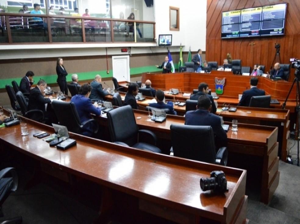 Câmara de vereadores em Cuiabá não tem nenhuma mulher entre os parlamentares — Foto: Câmara de Vereadores de Cuiabá
