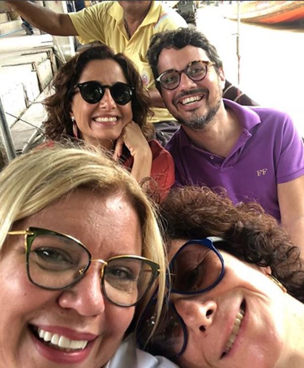 Camila Pitanga, Fausto Franco, Astrid Fontenelle e Betty Gervitz (Foto: Reprodução/Instagram)