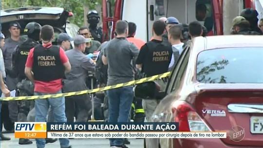 Refém de assalto em Viracopos foi baleada e está na UTI, diz família