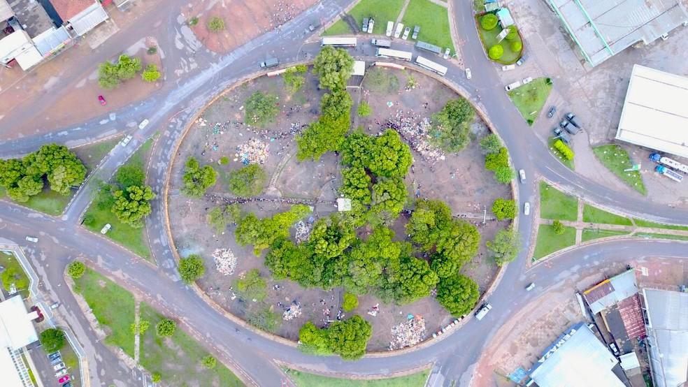 Praça Simon Bolívar fica no bairro 13 de Setembro, zona Sul da capital (Foto: Exército Brasileiro/Divulgação)