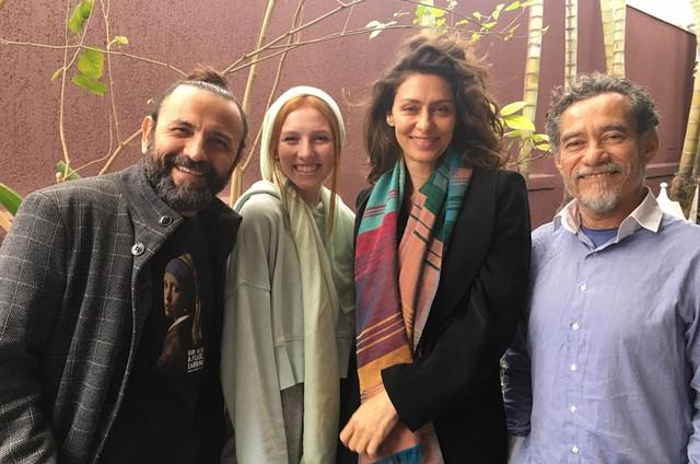 Halder Gomes, Samantha Heck Müller, Maria Fernanda Cândido e Chico Diaz (Foto: Arquivo pessoal)
