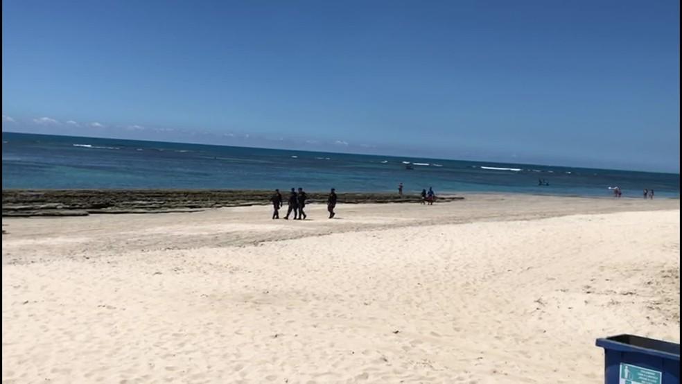 Porto de Galinhas é uma das praias fechadas por três dias em Pernambuco — Foto: Reprtodução/TV Globo