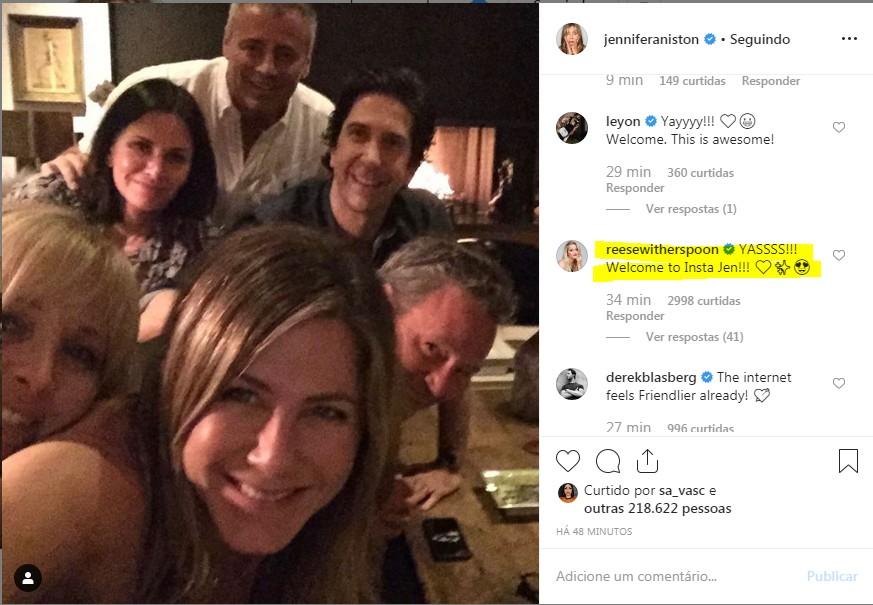 Jennifer Aniston bate recorde ao conseguir 1 milhão de seguidores no Instagram em 5 horas - Notícias - Plantão Diário