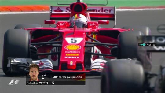 Com cronômetro zerado, Vettel tira pole de Verstappen e mantém viva briga pelo título