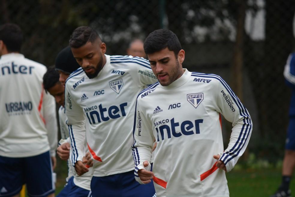 Reinaldo e Liziero estão bem cotados no Tricolor — Foto: Alan Mendes/saopaulofc.net