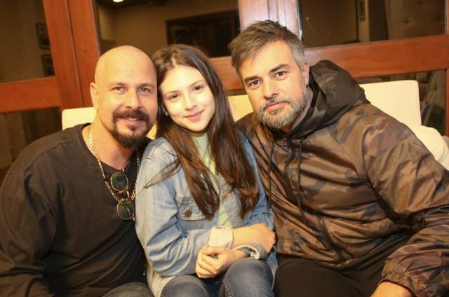 Pedro Garcia Netto, Sofia Cordeiro e Márcio Kieling em 'Chuteira preta' (Foto: Arquivo pessoal)