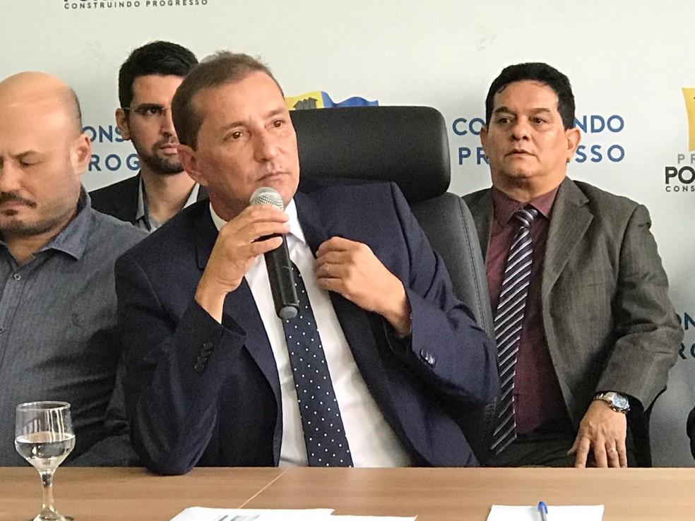 Prefeito Hildon Chaves defendeu lockdown.  — Foto: Armando Junior/Rede Amazônica