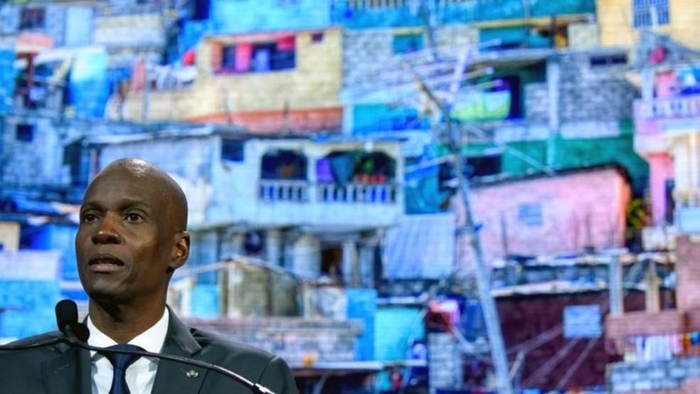Jovenel Moïse tinha 53 anos e era presidente do Haiti desde 2017 — Foto: Getty Images/BBC