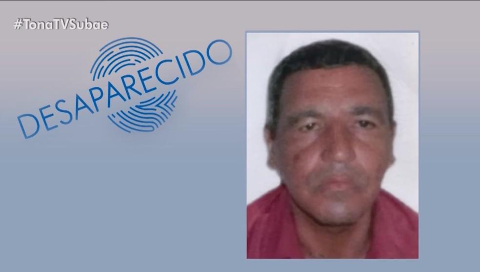 Homem de 55 está desaparecido há cerca de 20 dias após sair de casa em Feira de Santana — Foto: Reprodução/TV Subaé