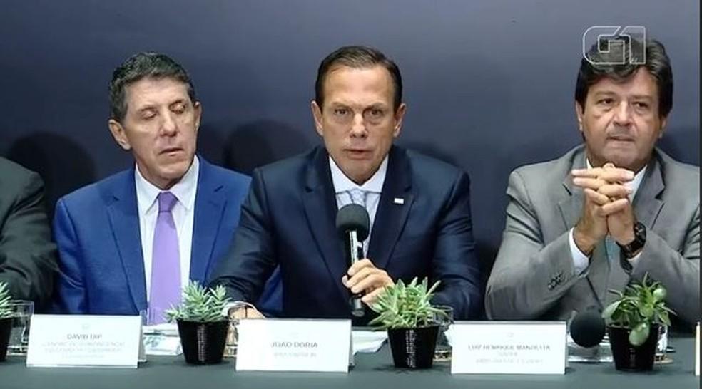 Governo de SP detalha casos suspeitos de coronavírus — Foto: Reprodução