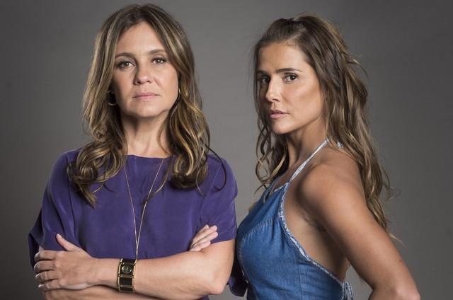 Adriana Esteves e Deborah Secco são Laureta e Karola em 'Segundo Sol' (Foto: João Cotta/TV Globo)