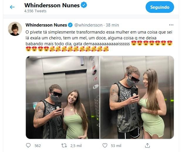 Post de Whindersson Nunes (Foto: Reprodução/Twitter)