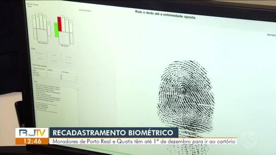 Moradores de Porto Real e Quatis tem até 1º de dezembro para recadastramento biométrico