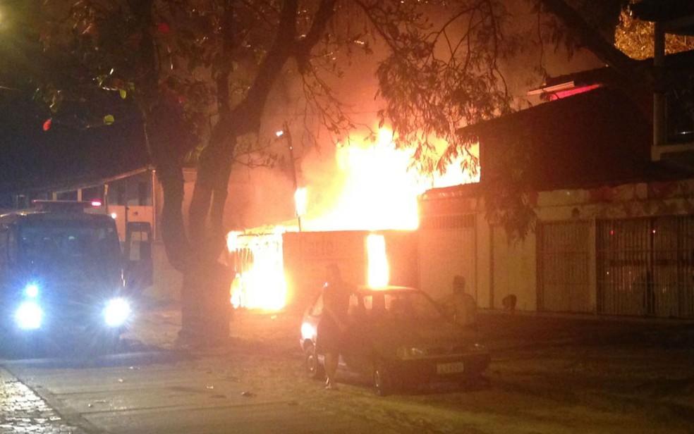 Ninguém ficou ferido no incêndio (Foto: Reprodução/ Namidia News)