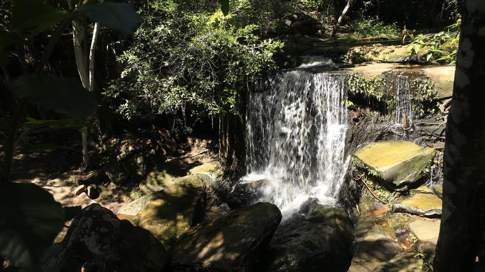 Corpo da vítima foi encontrado nas proximidades de cachoeira na zona rural de Valença do Piauí — Foto: Secretaria de Turismo do Piauí