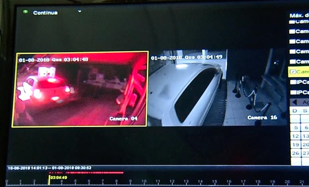 Circuito interno de câmeras registrou ação de bandidos na Grande Natal (Foto: Cedida)