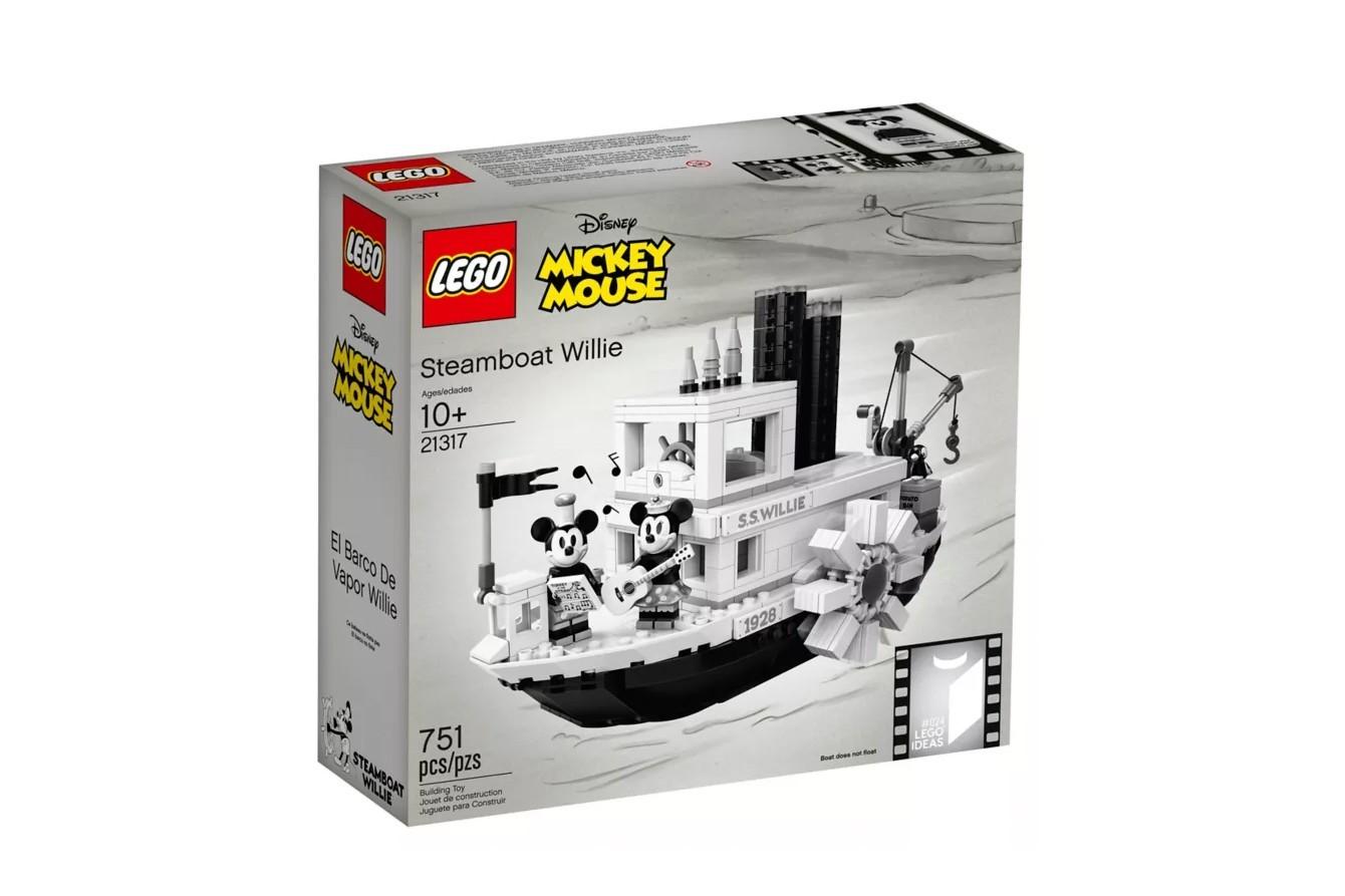 O novo Lego inspirado em Steamboat Willie, primeiro curta de Mickey na Disney (Foto: Divulgação)