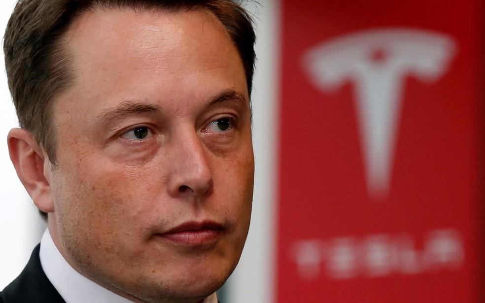 Elon Musk, presidente-executivo da Tesla, em evento no Japão, em 2014 — Foto: Toru Hanai/Reuters