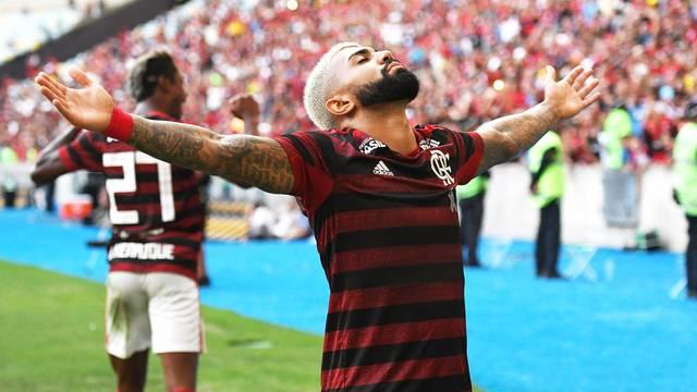 Gabriel comemora seu gol no Fla-Flu