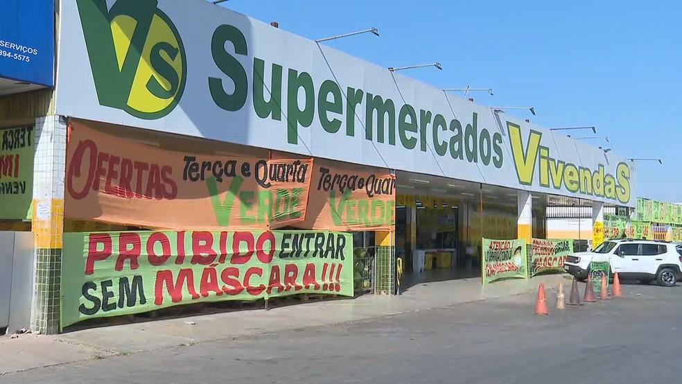 Funcionário de supermercado no DF diz ter sido vítima de racismo — Foto: TV Globo/Reprodução