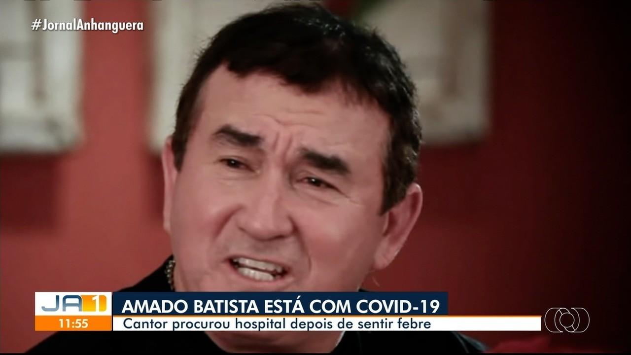 Amado Batista testa positivo para Covid-19