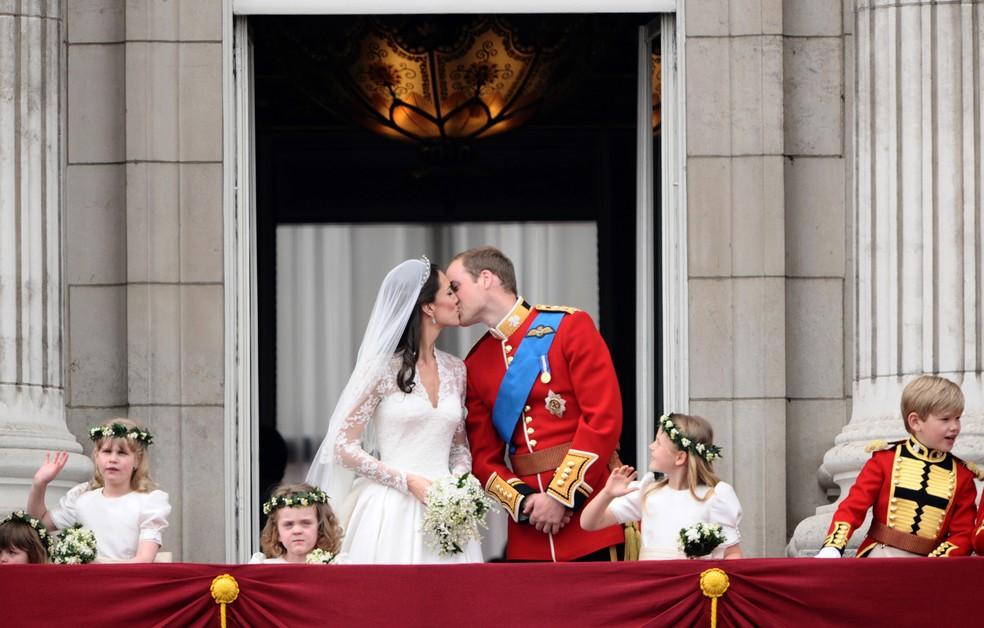 Casamento de Kate Middleton e príncipe William em 2011 (Foto: Justin Tallis/Poll/AFP/Arquivo)