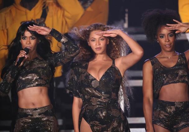 Destiny's Child reunidas durante o Coachella (Foto: Reprodução Instagram)
