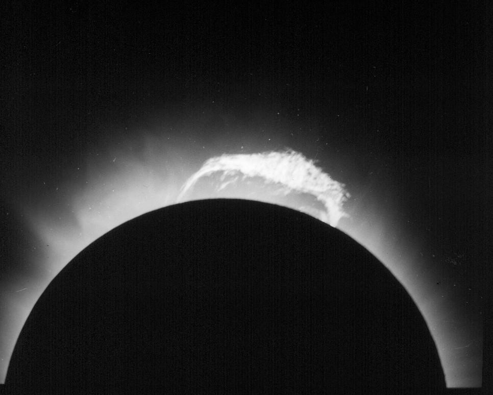 Cientistas captaram em detalhes o eclipse (Foto: Divulgação/ Observatório Nacional)