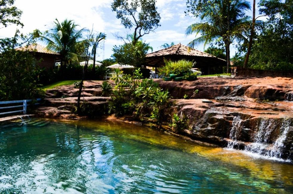 Balneário Cachoeira da Fumaça é um dos interditados pelo DNPM (Foto: Divulgação)