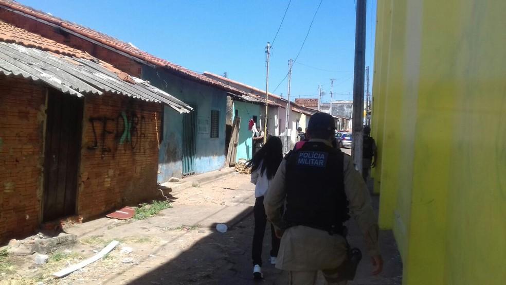 Região foi isolada para perícia (Foto: Elder Silva/Divulgação)