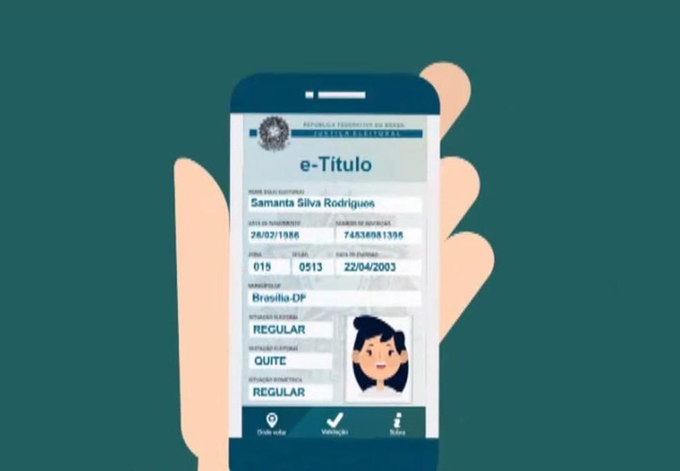 E-título poderá ser exibido pelos eleitores em celulares ou tablets (Foto: Reprodução, TSE)