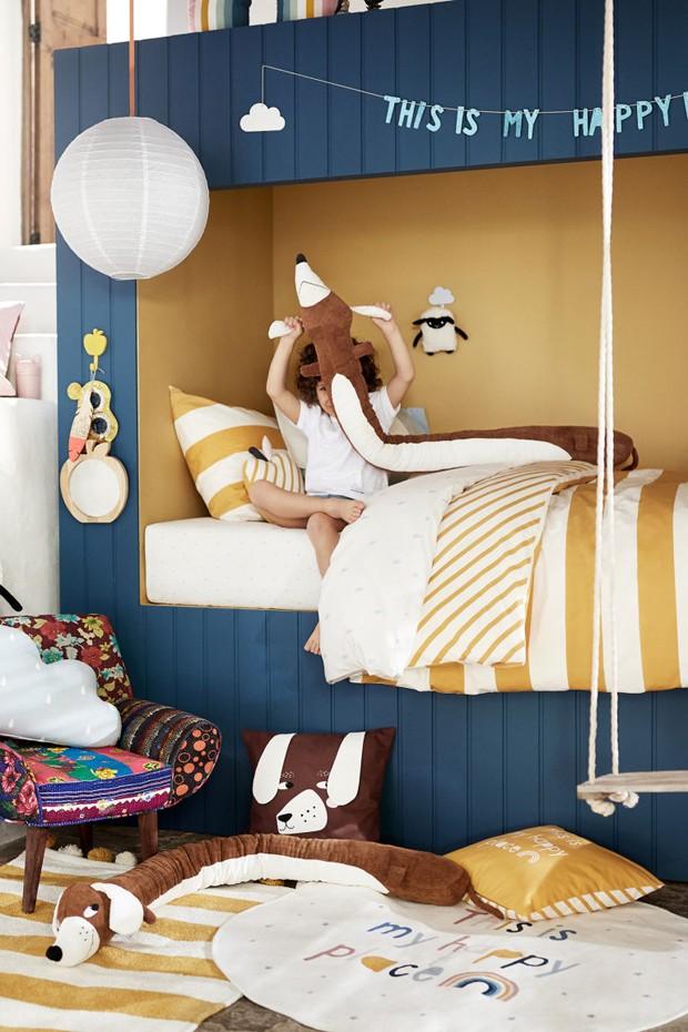 Décor do dia: quarto infantil modulado e náutico (Foto: H&M Home/Divulgação)