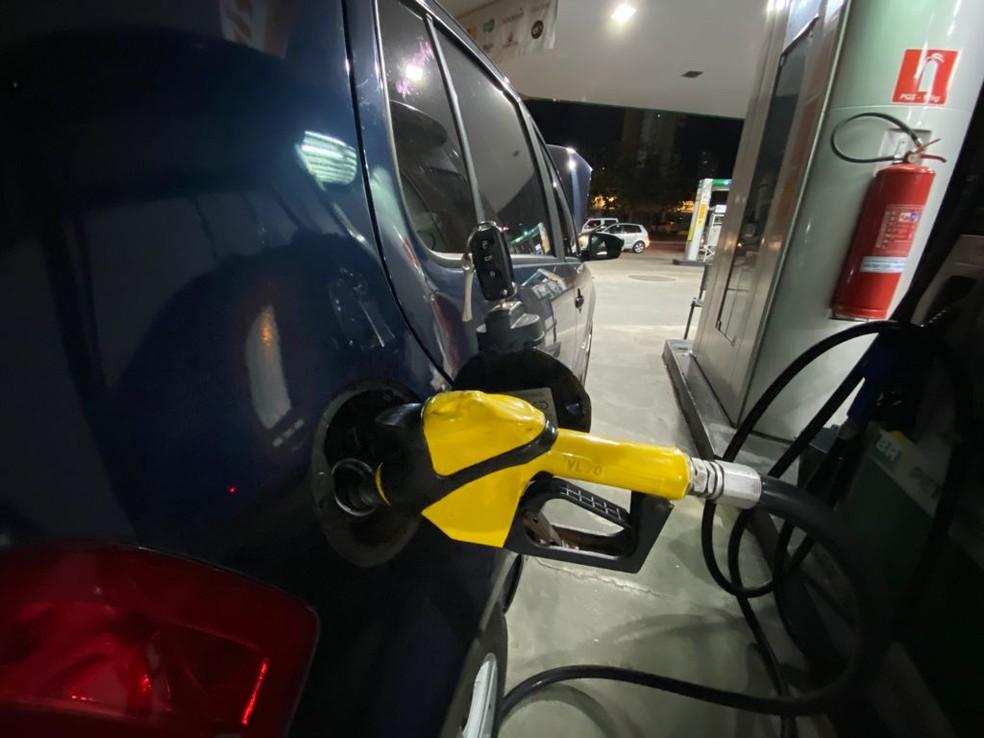 Posto de gasolina, combustível, Natal — Foto: Augusto César Gomes