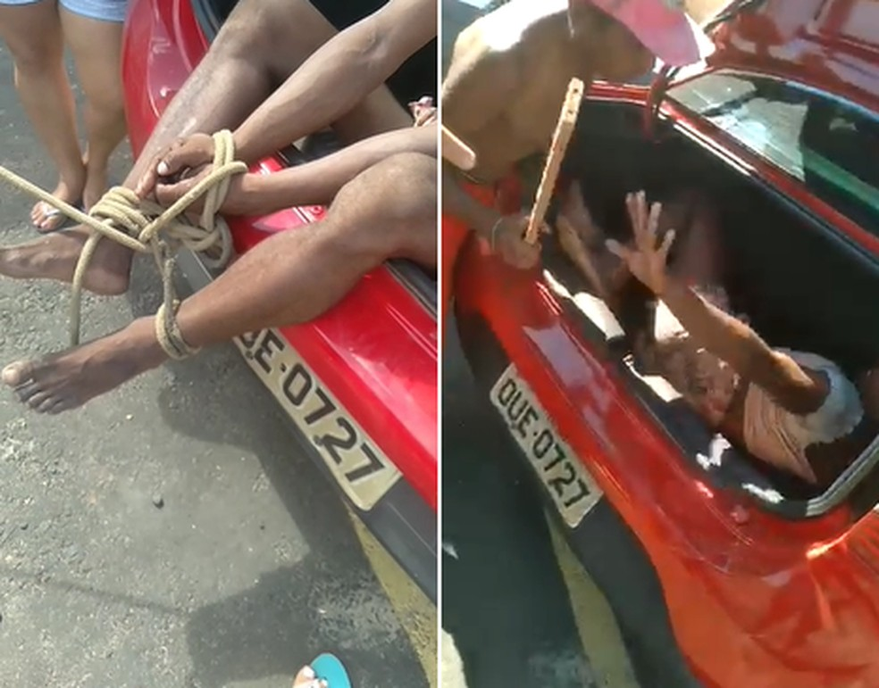 Vídeo mostra travesti sendo agredida diante de Guardas Municipais de Teresina — Foto: Reprodução