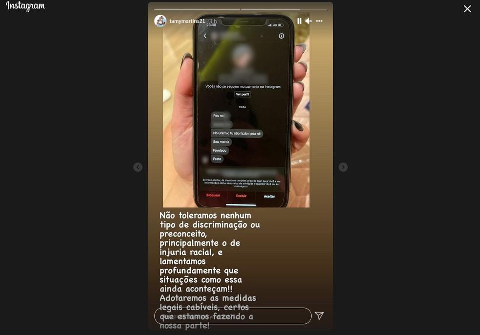 Esposa de Pedro Rocha relata ofensas racistas ao atacante do Athletico — Foto: Reprodução/Instagram