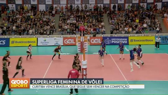 Brasília Vôlei perde para Curitiba e sofre a quarta derrota seguida na Superliga Feminina