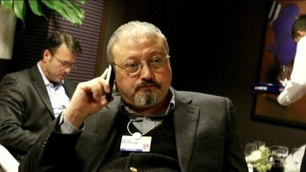 'Assassinato de jornalista foi planejado com antecedência', diz presidente turco — Foto: Reprodução/JN