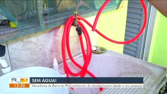 Moradores de Barra do Piraí reclamam de problema no abastecimento de água há mais de um ano
