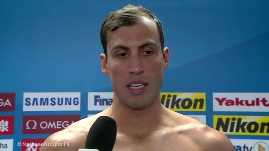 Guilherme Guido explica polêmica sobre o bloco de largada dos 100m costas