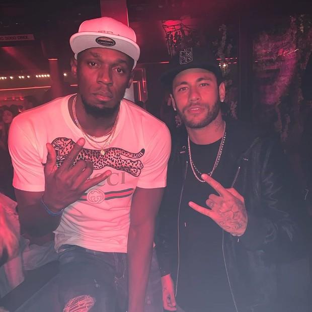 Usain Bolt e Neymar (Foto: Reprodução/Instagram)