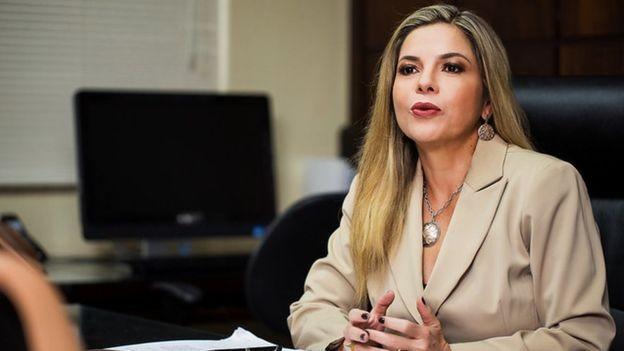 A presidente da associação dos juízes do trabalho, Noemia Porto, diz que há 'um ambiente de medo' devido à cobrança de custas e honorários (Foto: ALESSANDRO DIAS/ANAMATRA, via BBC News Brasil)