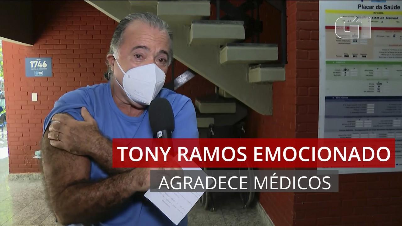 VÍDEO: Tony Ramos se emociona ao tomar a primeira dose da vacina