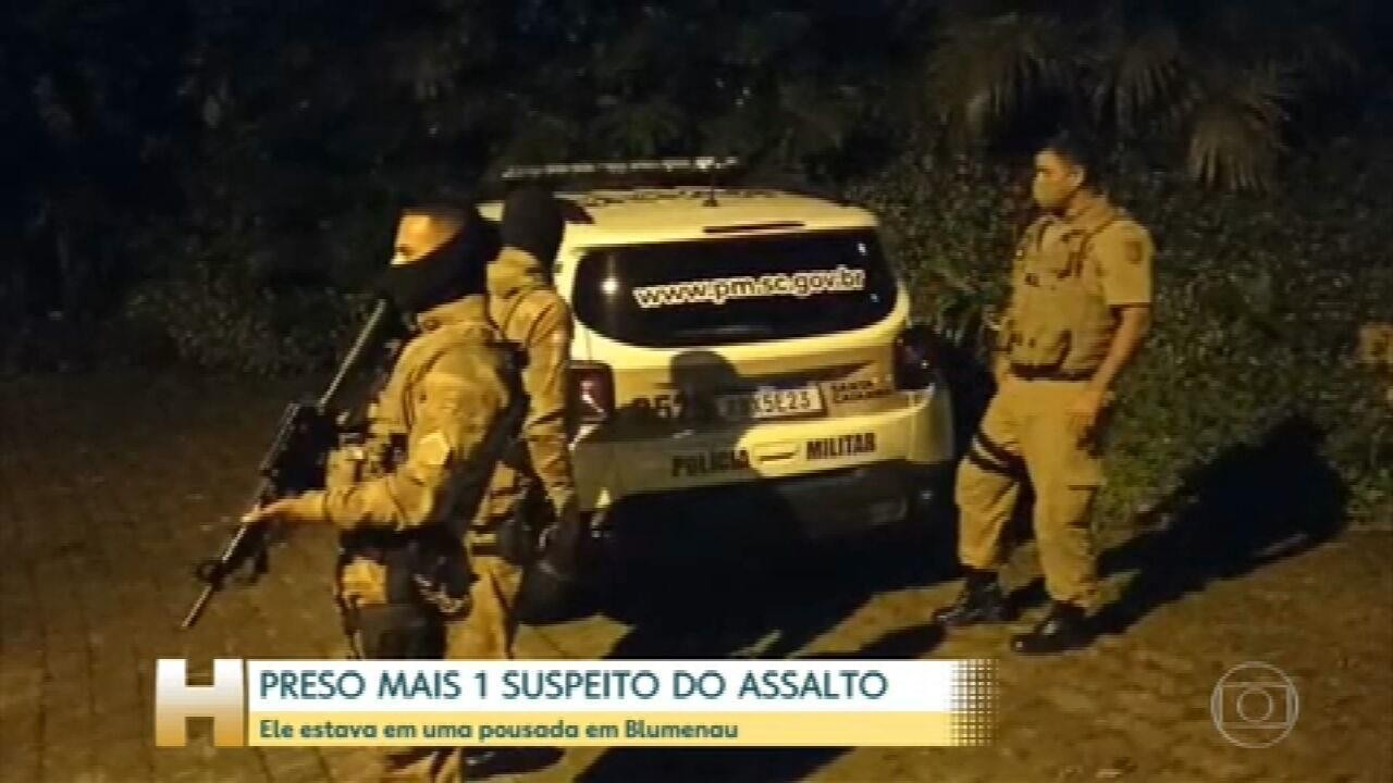 Polícia pende mais um suspeito de participar do assalto em Criciúma (SC)